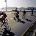 Até as sinaleiras da Beira-mar estavam sincronizadas para os atletas do Iron Man