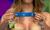 Fernanda Lima no sorteio da Copa no Brasil