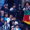 Gaúcho foi flagrado aos brados junto à torcida da Argentina