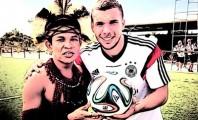 Podolski encanta mais um brasileiro