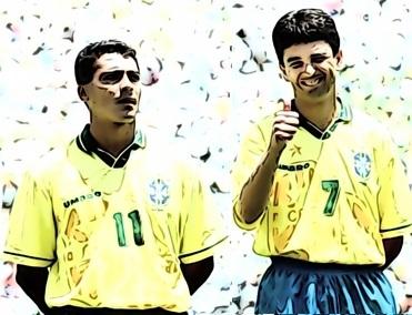 Romário e Bebeto em 1994