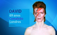 "Pedro Bial mal consegue esperar para chamar David Bowie de ""hero"""